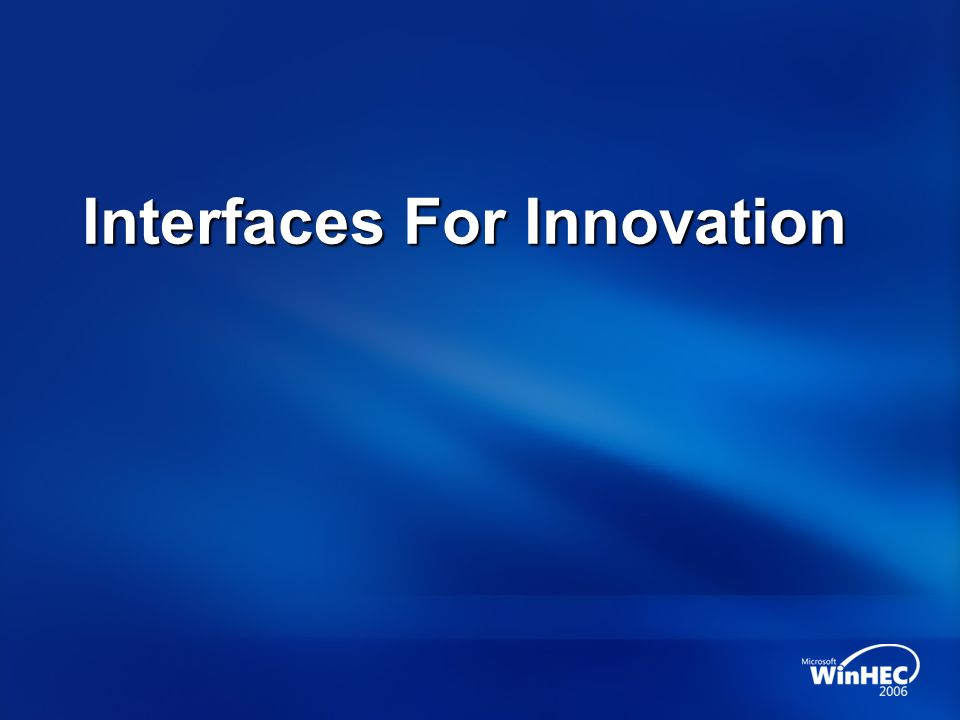 Interfaces For Innovation