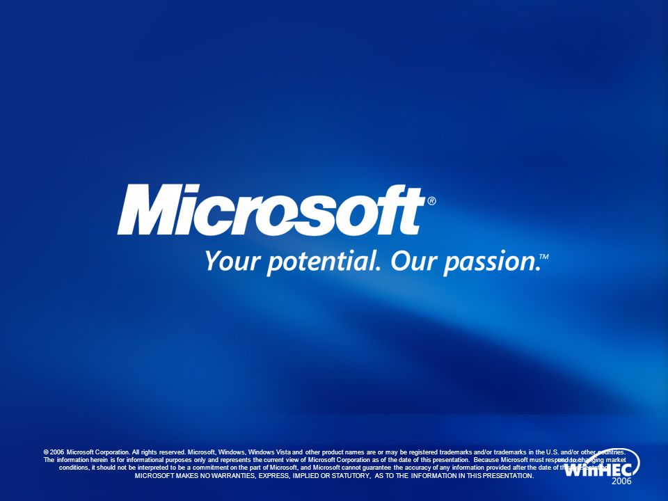 © 2006 Microsoft Corporation. All rights reserved