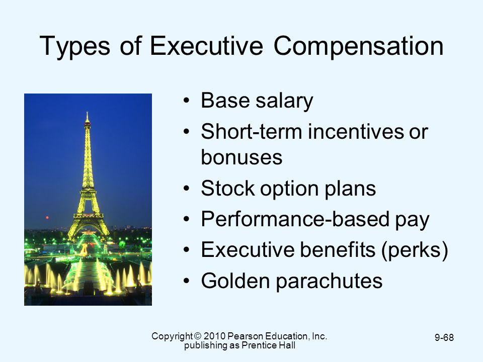 Incentive stock options for executives