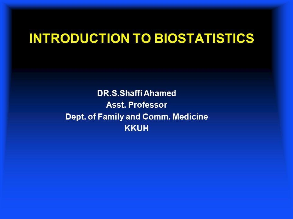 Biostatistics basics ppt