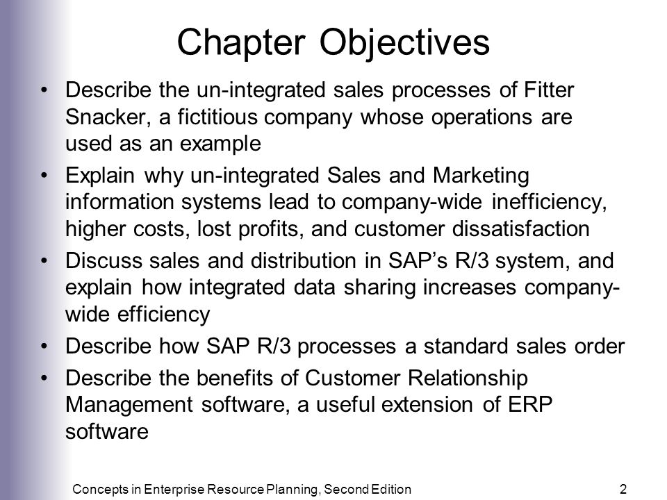 Marketing information systems and the sales order process ppt chapter objectives describe the un integrated sales processes of fitter snacker a fictitious company sciox Choice Image