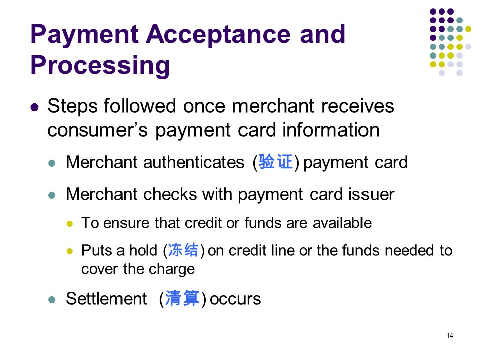 Payment Acceptance and Processing