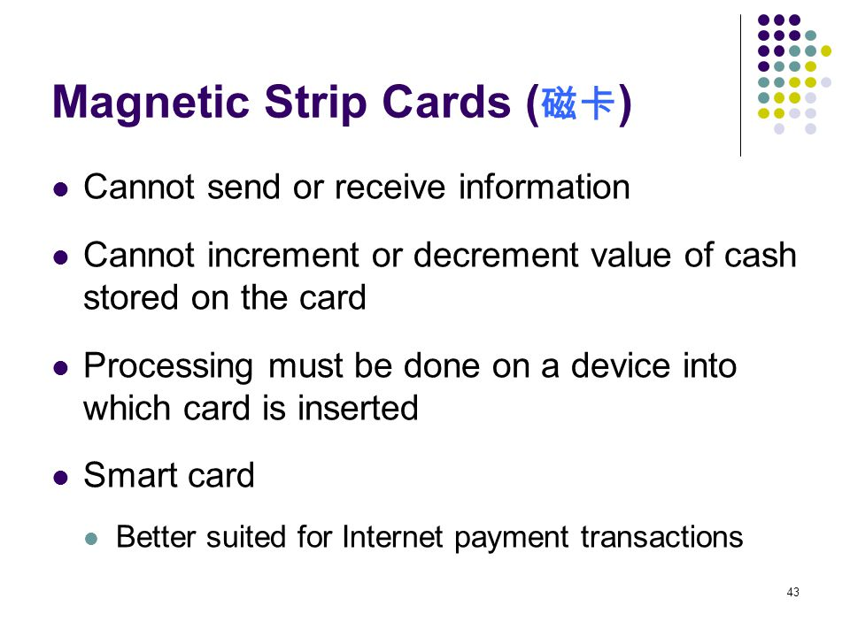 Magnetic Strip Cards (磁卡)