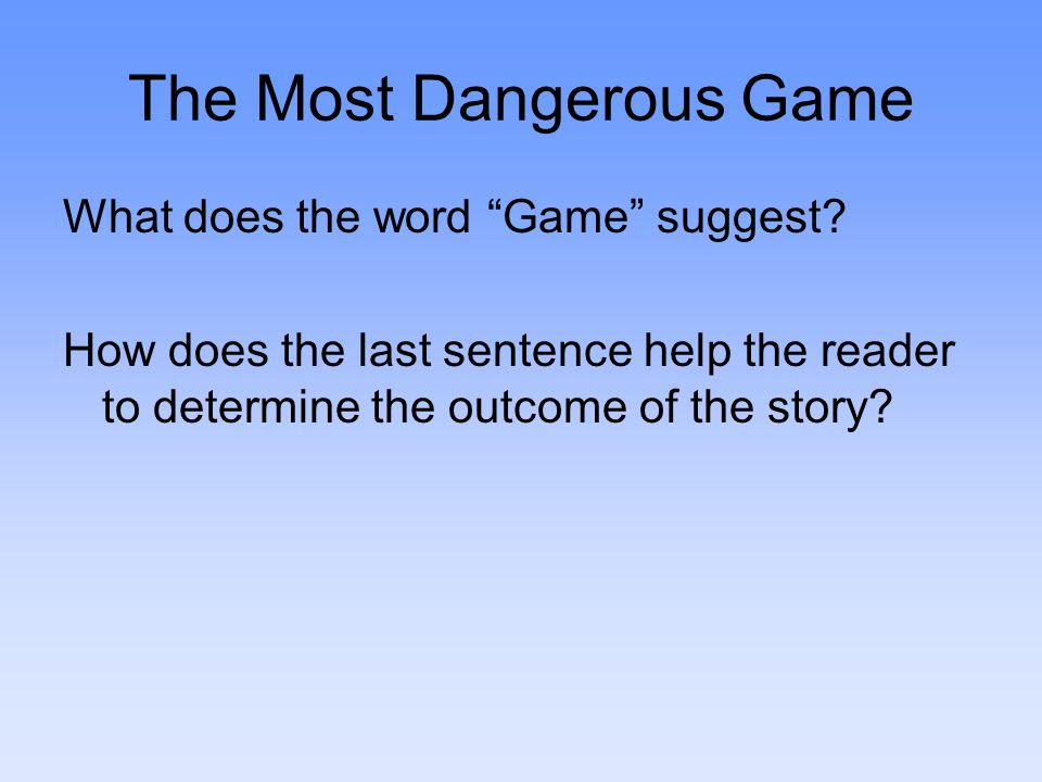 The Most Dangerous Game Plot Review Answers Neon Genesis