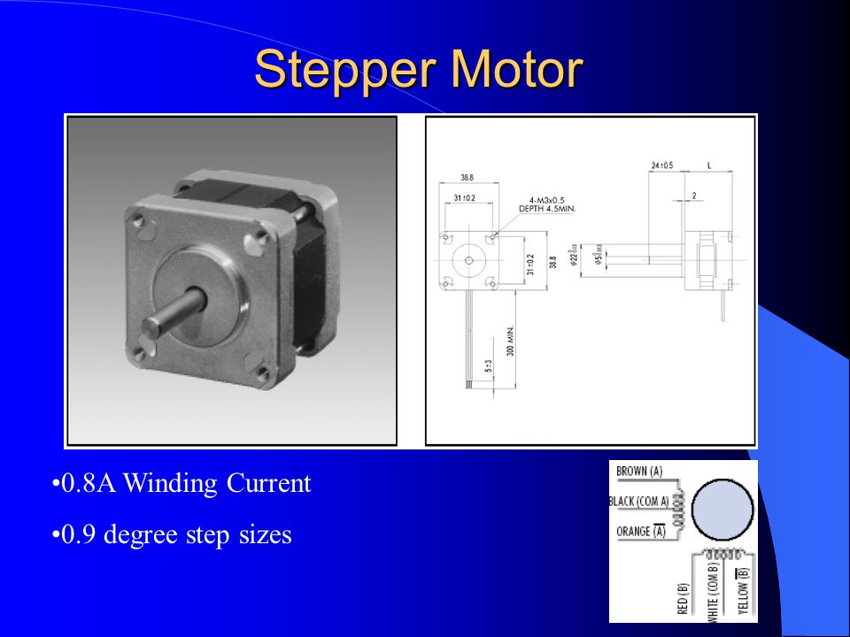 Spirit c solar powered image response infrared tracking for Stepper motor step size
