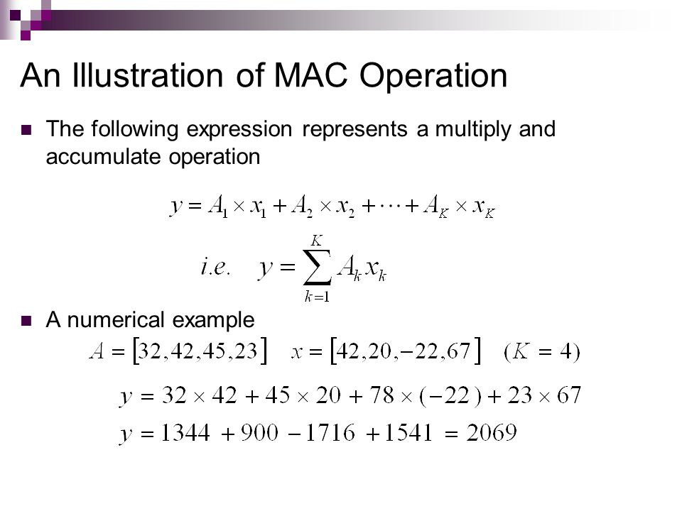 An Illustration of MAC Operation