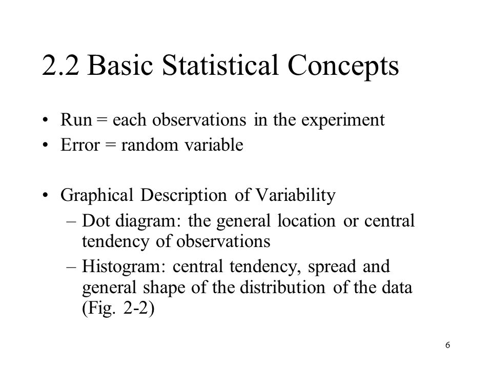 2.2 Basic Statistical Concepts
