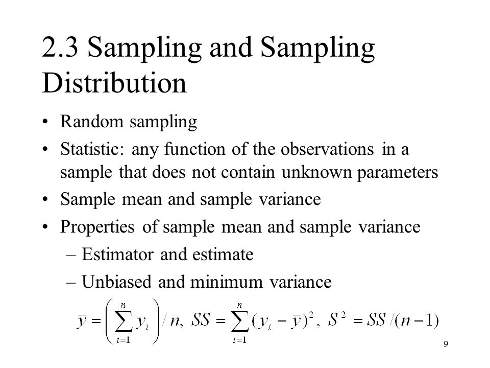 2.3 Sampling and Sampling Distribution
