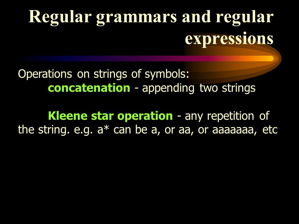 Regular grammars and regular expressions