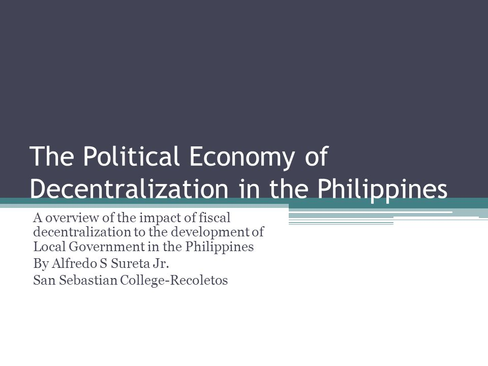 an overview of the economy in philippines