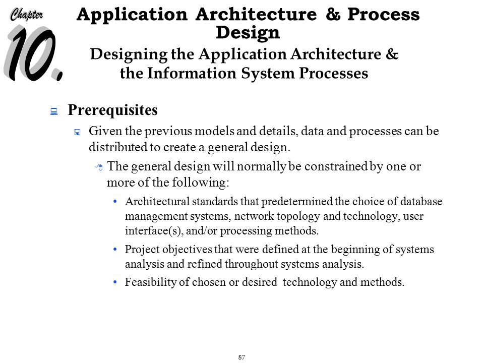 The Chapter Will Address The Following Questions Ppt Download - Architecture prerequisites