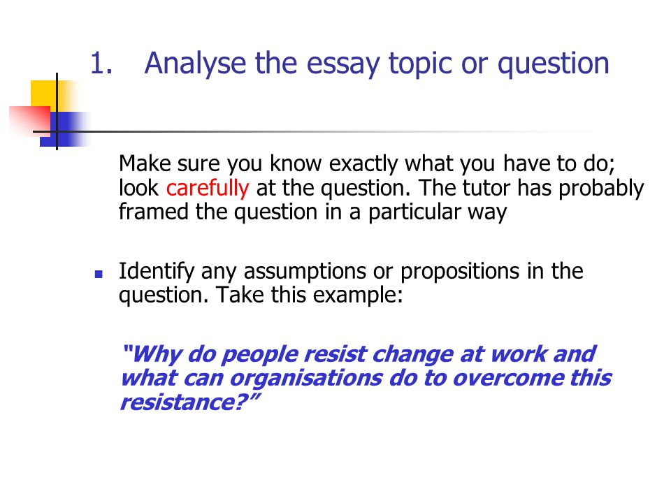 analyse the essay topic or question ppt  analyse the essay topic or question