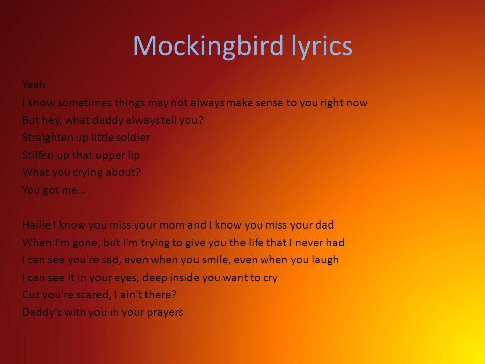 eminem mockingbird lyrics pdf download