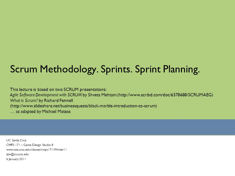 Scrum Methodology Sprints Sprint Planning Ppt Video Online Download