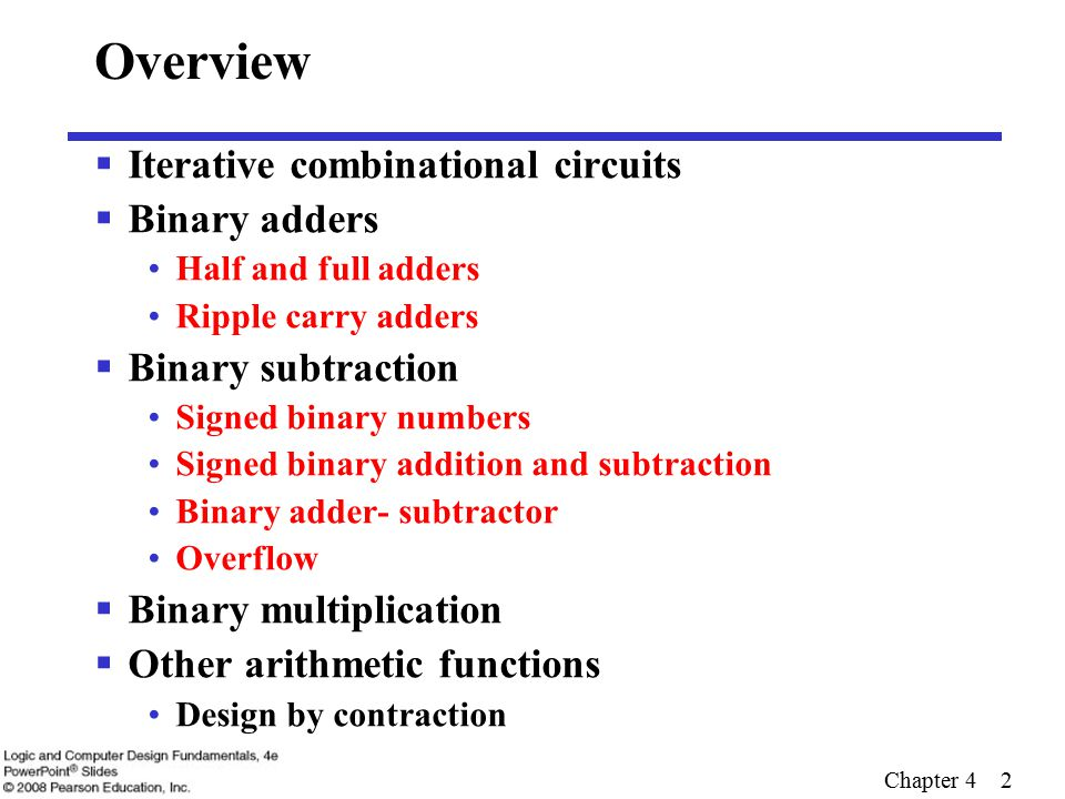 overview iterative combinational circuits binary adders
