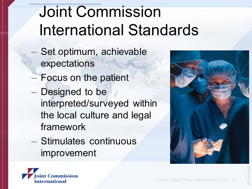 the healthcare commission standards for better Documentation of mandated discharge summary components in transitions  the joint commission has established standards (standard im610, ep 7) outlining the.