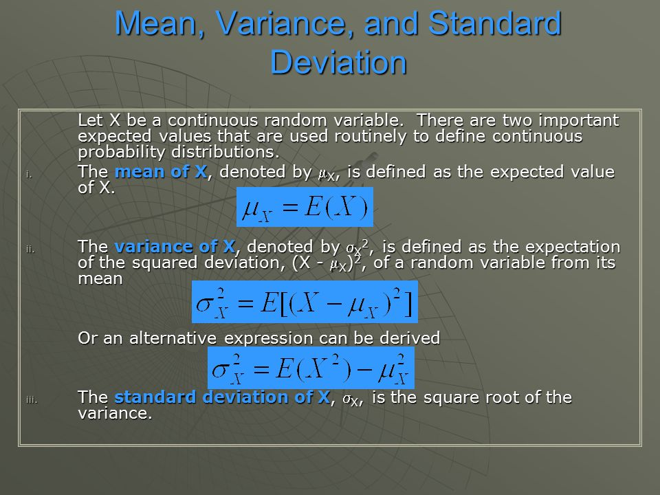 random variable and standard deviation