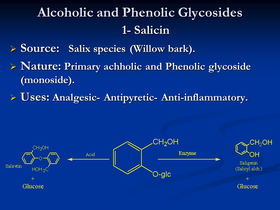 Alcoholic and Phenolic Glycosides