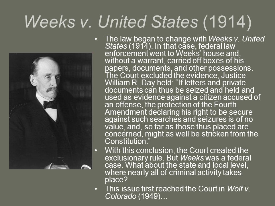 Weeks v. United States (1914)
