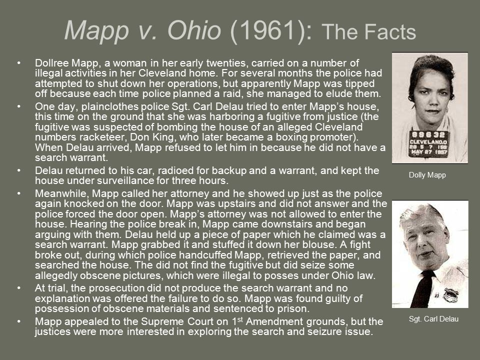Mapp v. Ohio (1961): The Facts