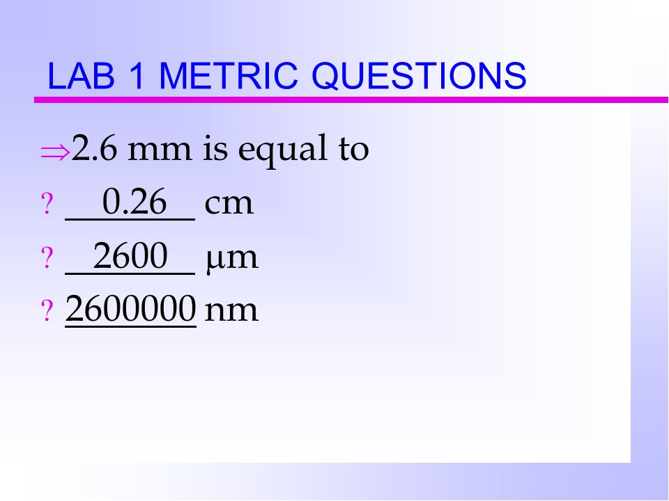lab 2 microscopy and the metric Lab 1 : principles and use of microscope  ← lab 2: measurement and counting of cells using microscope lab 3: preparation and sterilization of .