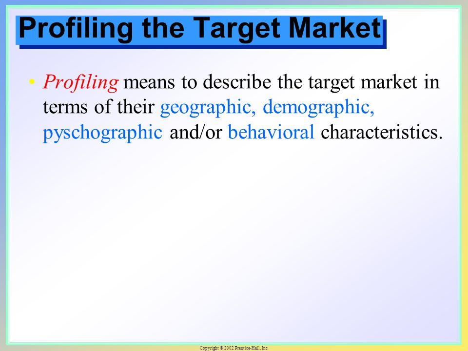 target market profiling