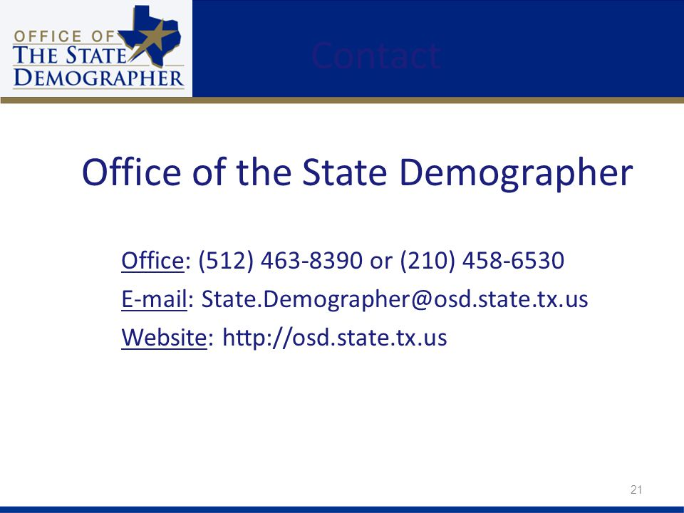 Office of the State Demographer