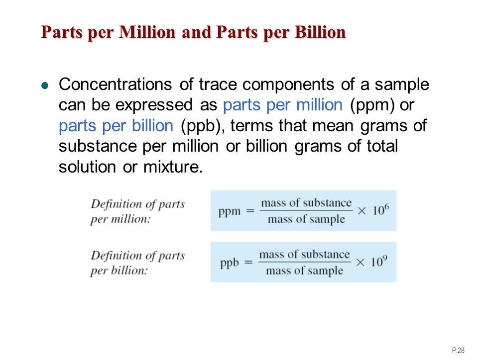 part per billion