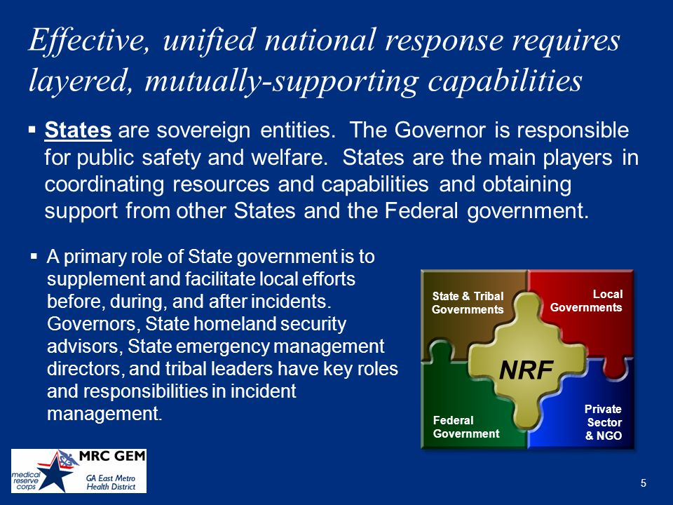 the role and responsibilities of responding emergency services during major incidents in the nrf sev Overview of the process, roles, and responsibilities for requesting  when local  jurisdictions cannot meet incident response resource needs with their own   without a presidential major disaster or emergency declaration.