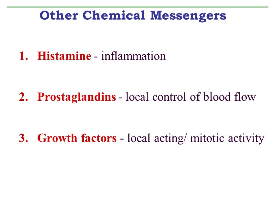 Other Chemical Messengers