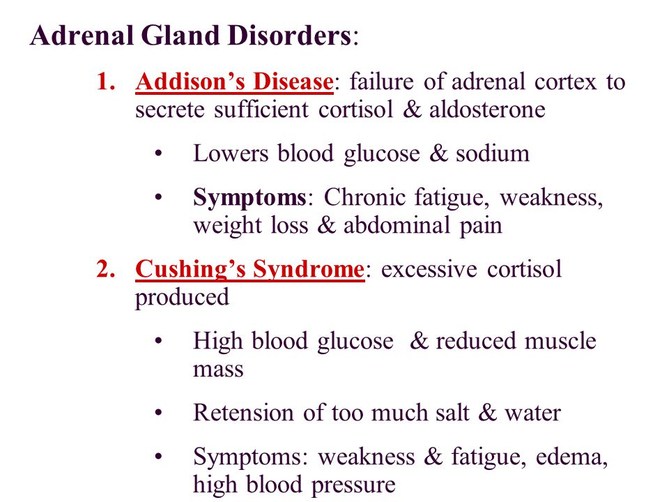 Adrenal Gland Disorders:
