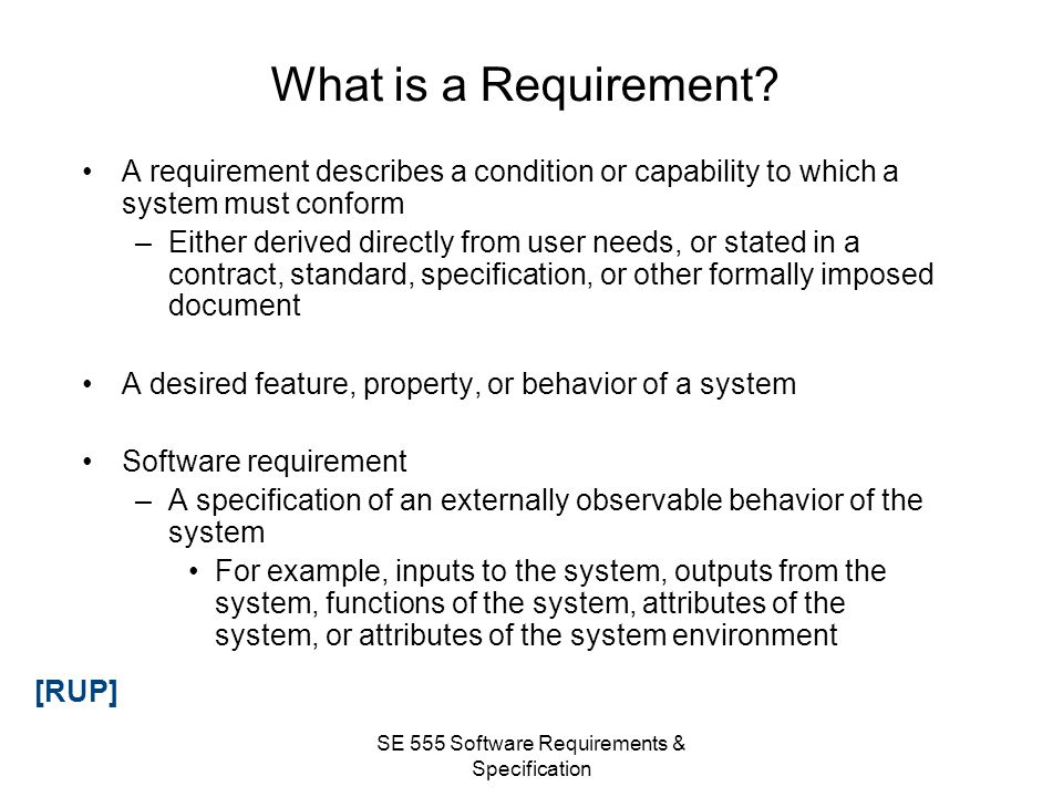 SE 555 Software Requirements & Specification