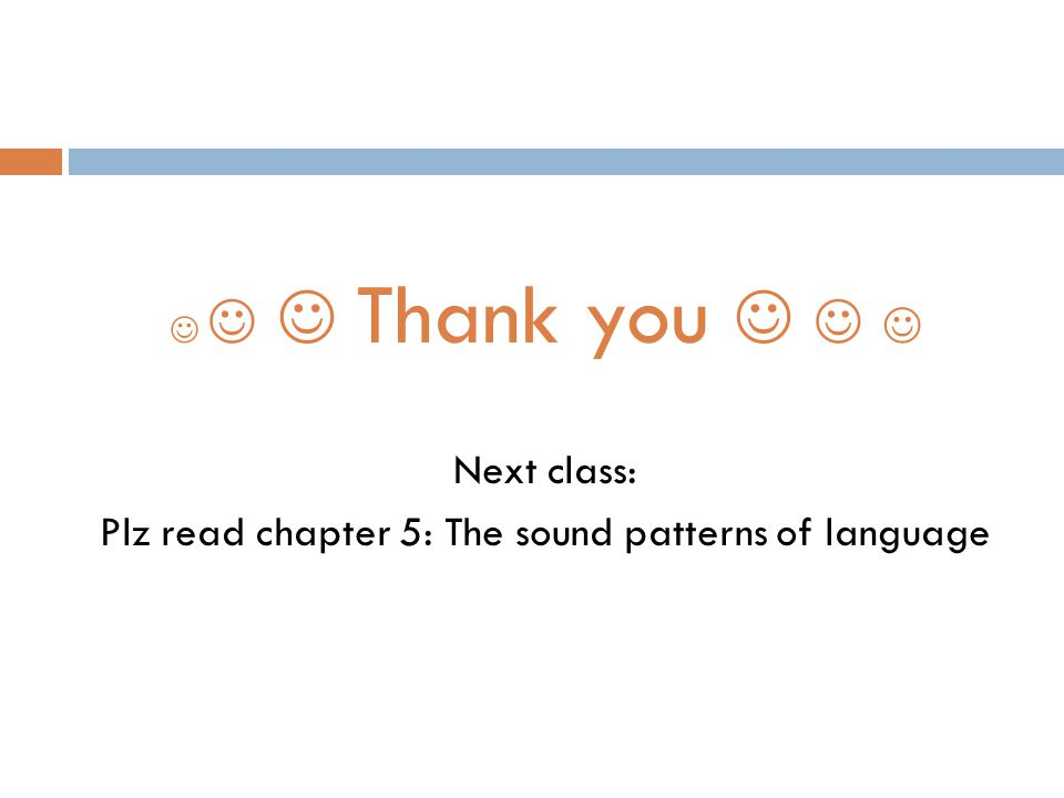 Plz read chapter 5: The sound patterns of language