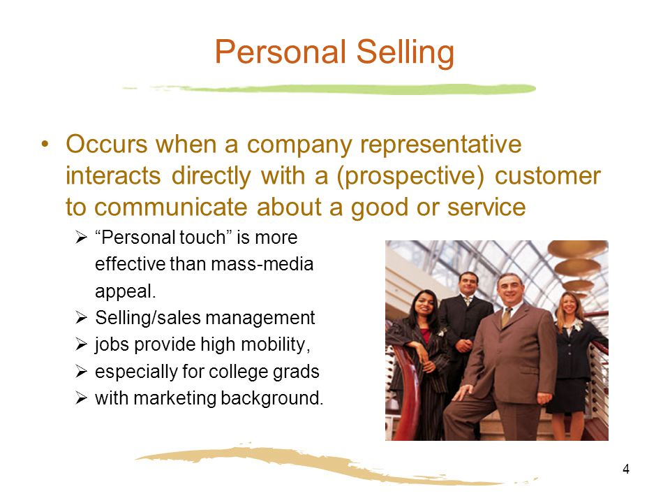 personal selling and customer relationship management