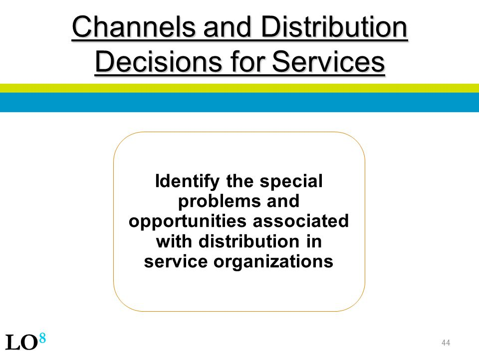 Channels and Distribution Decisions for Services