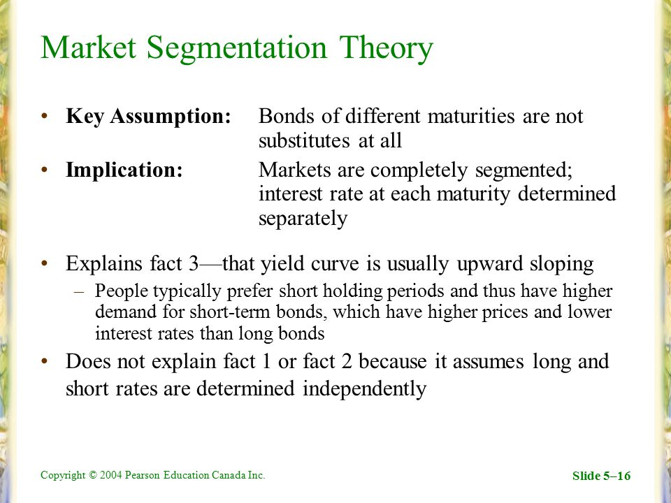 a market segmentation theory The underpinnings of market segmentation exist in microeconomic theory that  allows optimization of demand by creating oligopolistic conditions by  segmenting.