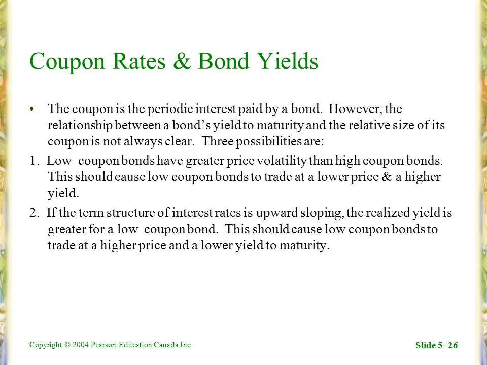 yield to maturity paper