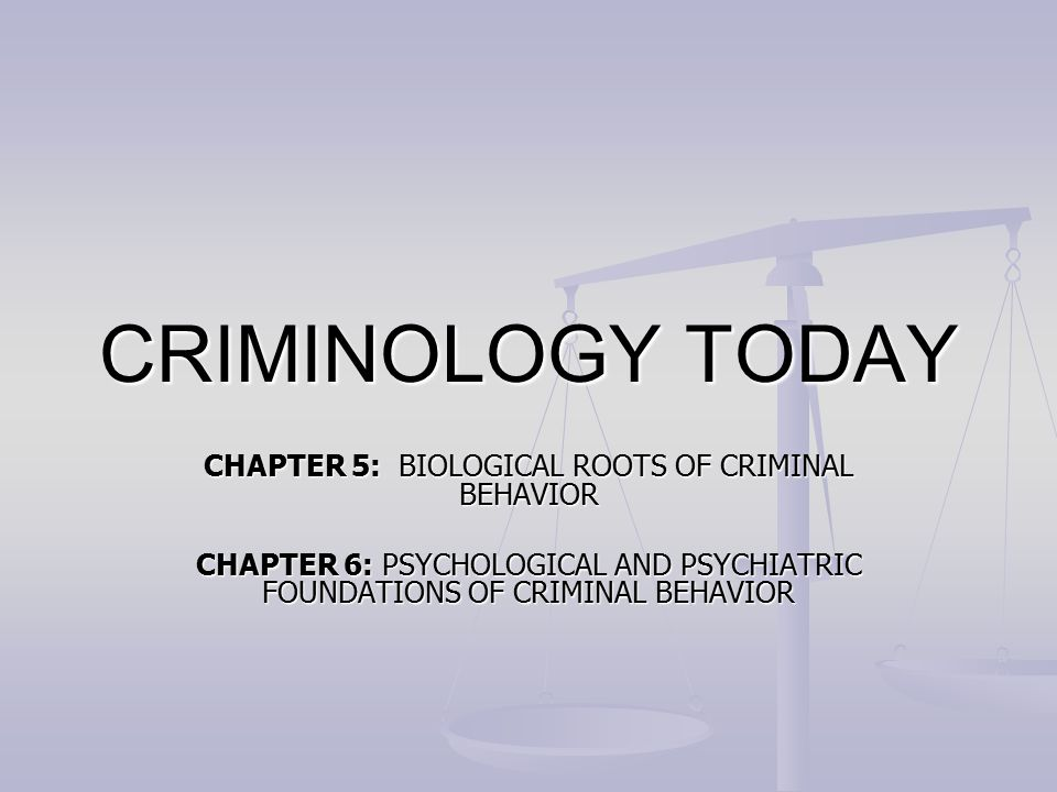psychological and psychiatric foundations of criminal behavior The apa handbook of forensic psychology consolidates and mental health treatment of criminal individual and situational predictors of criminal behavior.