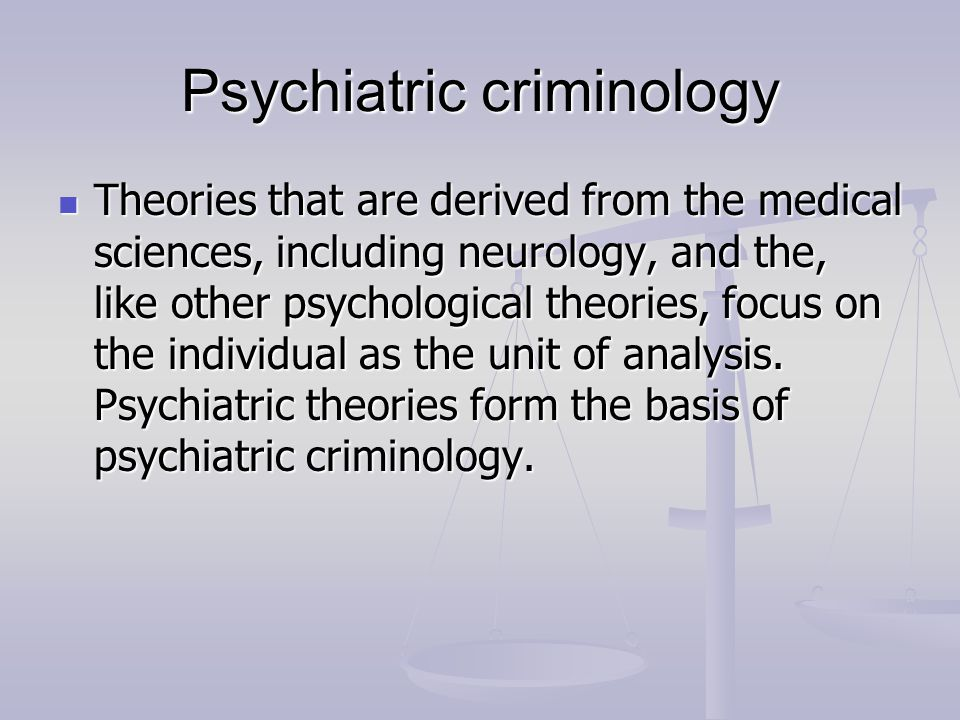 criminology psychological theories essay You can follow this simple and easy way by cooperating with us and making use of our criminology essay help there have always been theories  criminology essay,.