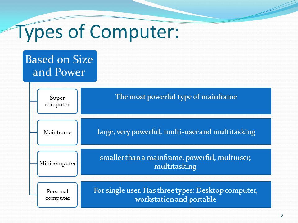 a comparison of personal computers and mainframe computers These computers came to be known as desktop computers, or personal computers (pcs) a typical pc contained the same basic components as a mainframe computer (cpu, ram, storage, etc) but at a fraction of the size and cost.