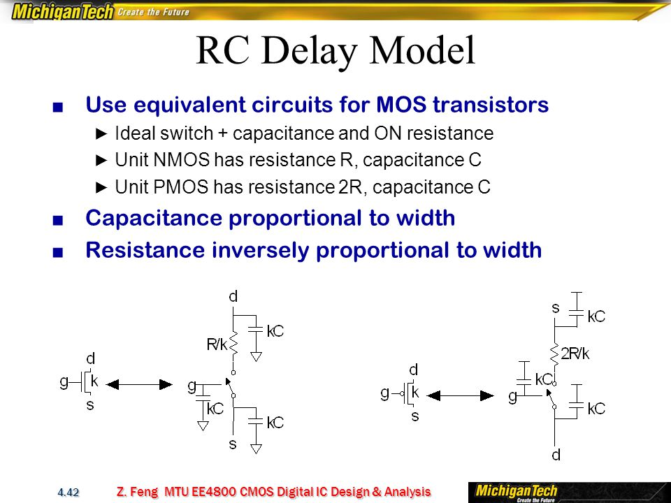 cmos capacitance and resistance relationship