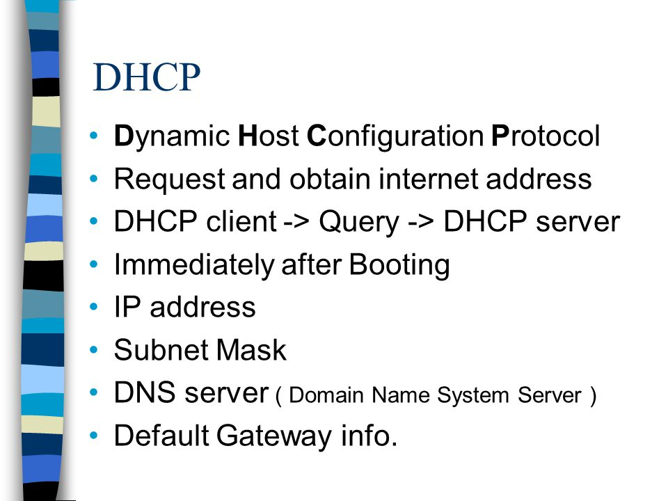 dynamic host configuration protocol dhcp If dhcp client determines the offered configuration parameters are different or invalid, it sends dhcp decline message to the server when there is a reply to the gratuitous arp by any host to the client, the client sends dhcp decline message to the server showing the offered ip address is already in use.