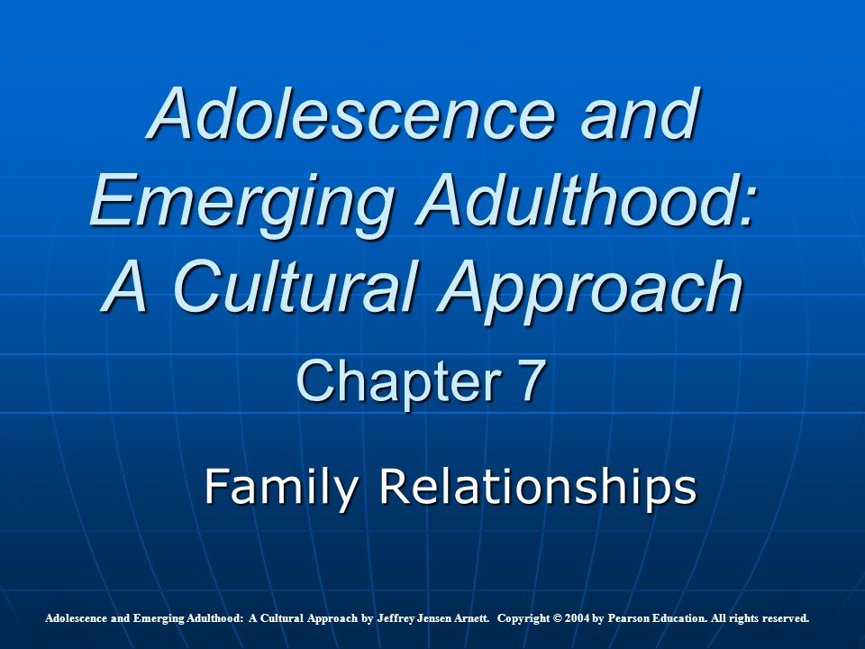 adolescence and family education A conceptual framework for adolescent health  education, social and other  family planning and adolescent health programs.