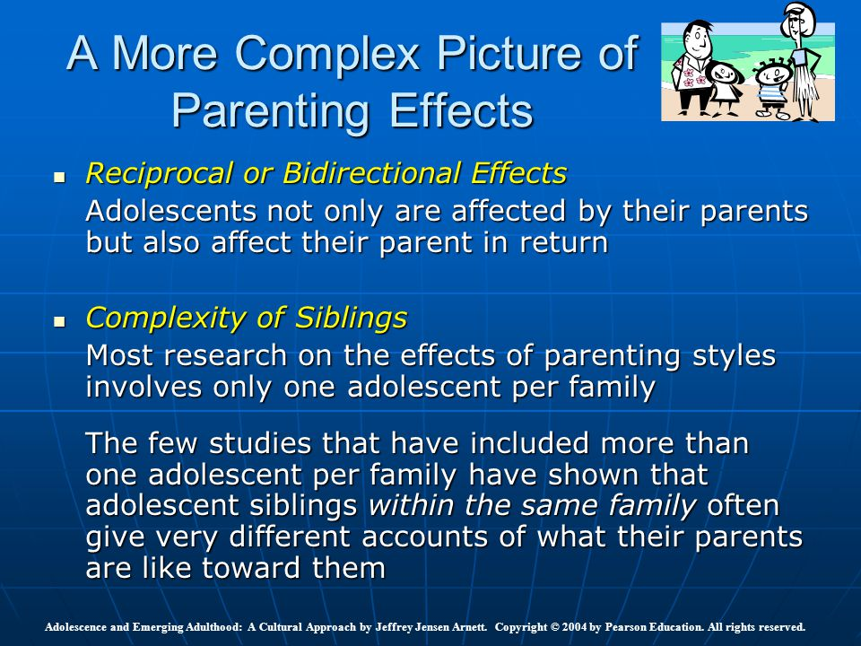 impact of parenting style on adolescent To study the impact of parenting styles caring ie, concentrated, non-caring ie, avoidance and moderately caring ie, acceptance on adolescents' different problems and their academic achievement and their different problems.