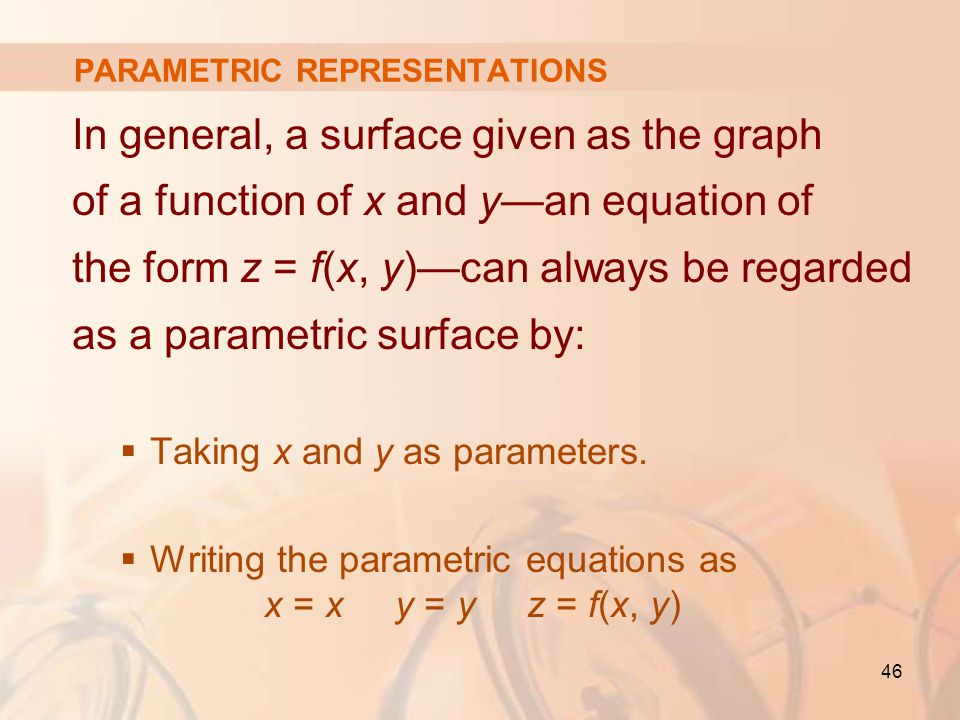 Write a parameterization of the cone