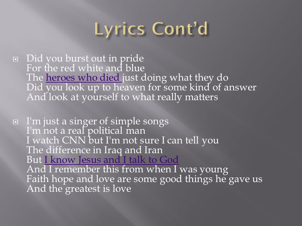 "Where Were You?"" By Alan Jackson. - ppt download"