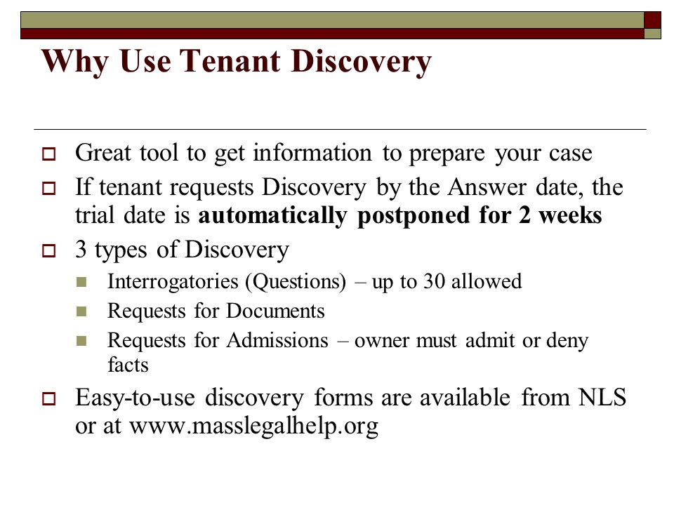 Why Use Tenant Discovery