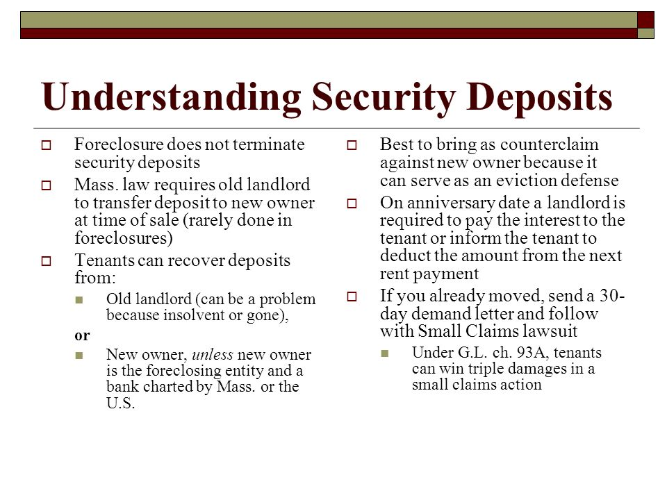 Understanding Security Deposits