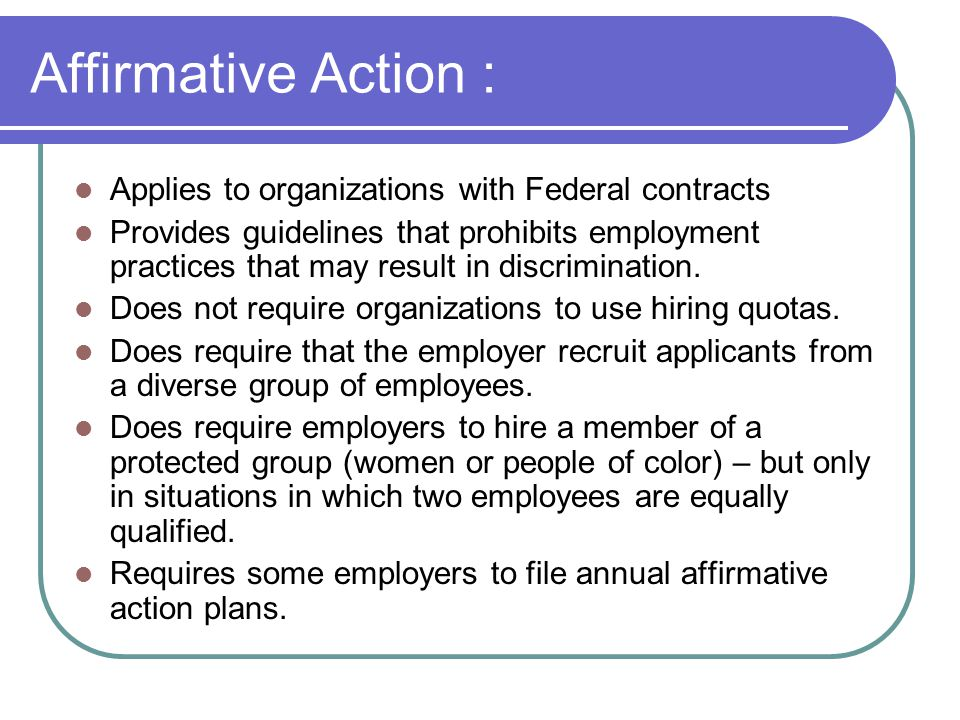 Affirmative action and sexual orientation