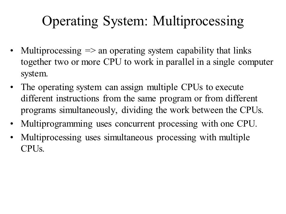 Operating System: Multiprocessing